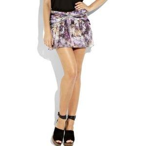 Elizabeth and James Lee silk georgette mini skirt